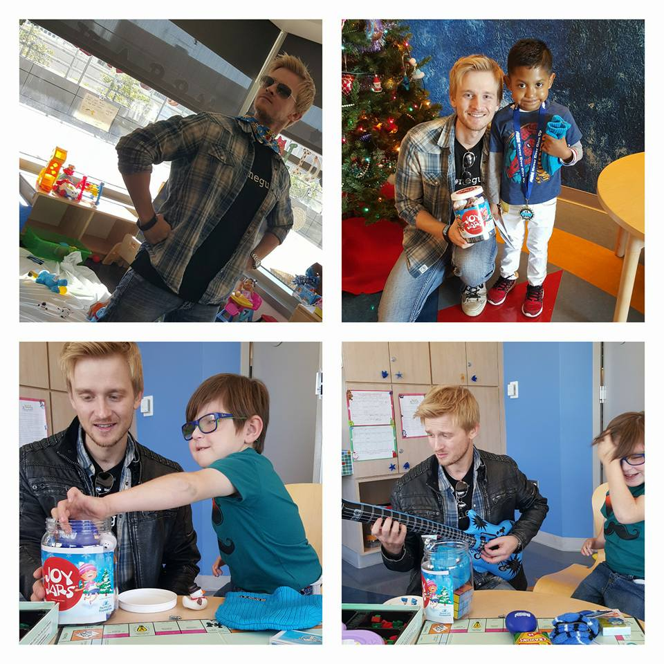 Before the LIVE show, NEGU kids decorated Christmas ornaments to then be sold to the pubic the night of the OC Christmas Extravaganza. Here is a behind the scenes look!