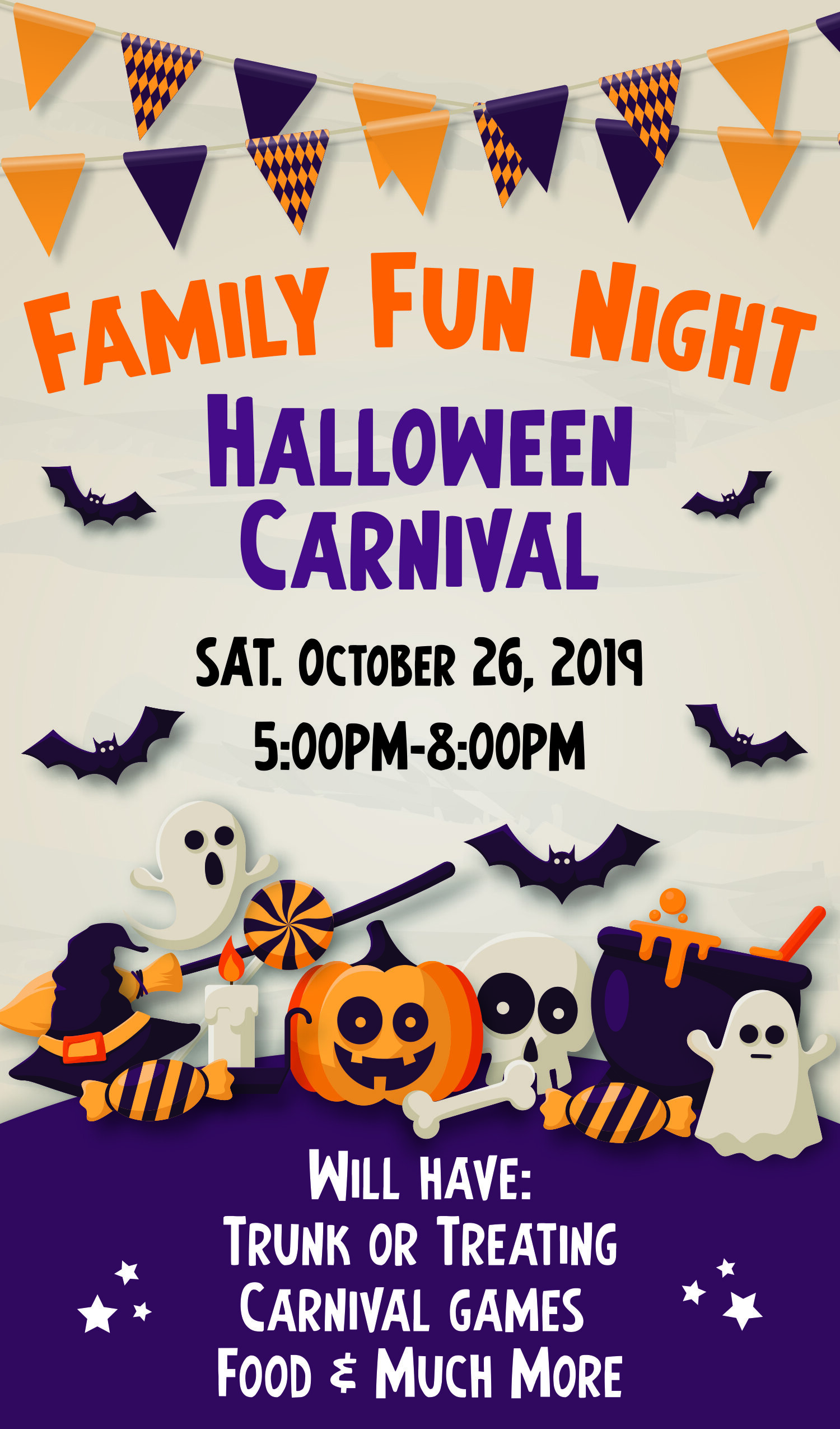 Join us on Saturday, October 26th from 5:00PM-8:00PM at Eastbluff Elementary for the Eastbluff Elementary Family Fun Night brought to you by the Eastbluff EDADS. We will have Trick or Treat for the kids, a Costume Contest, Carnival Games and a whole lot more. Tickets are $25.00 ($30.00 at gate) and all proceeds go to support your children education through The EDADS Foundation.