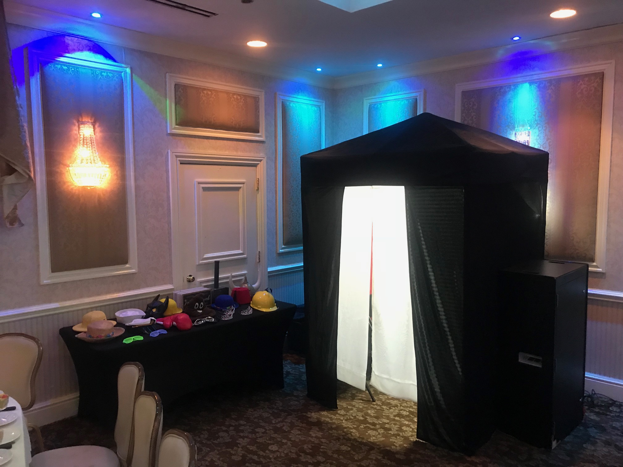 Our enclosed booth at the Poughkeepsie Grand Hotel!
