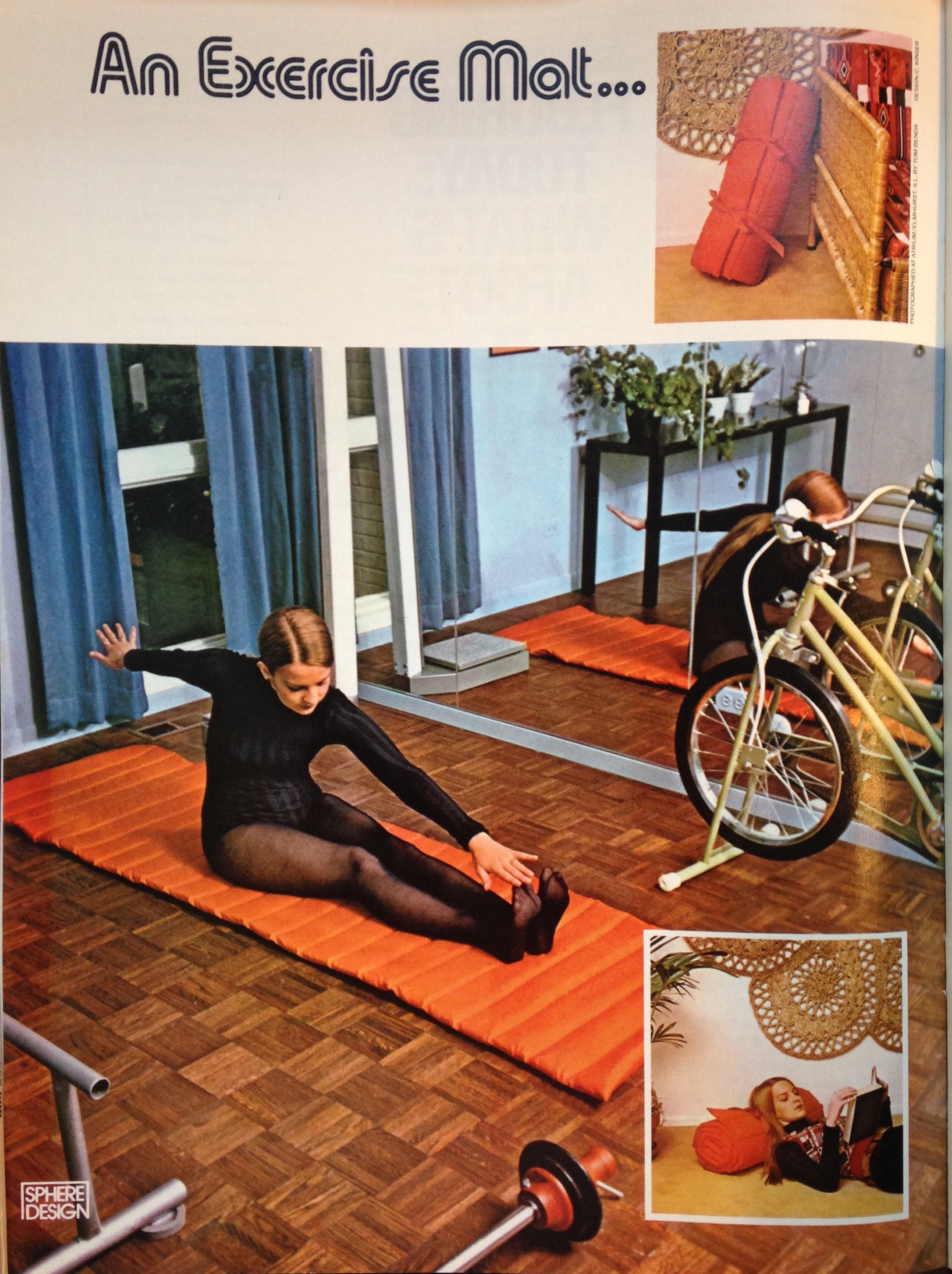 Apparently women used to exercise while wearing pantyhose? Pictorial from the January 1973 issue of  Sphere.