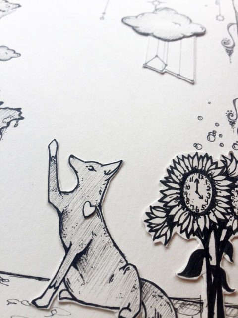 The Woods Dripped with Whimsy (detail)