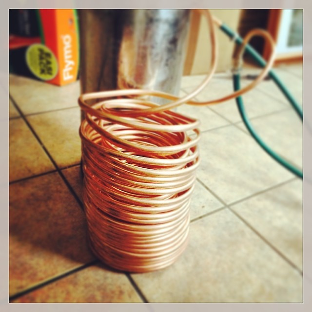 BYOB project (build your own brewery) double coil chiller done! #homebrew