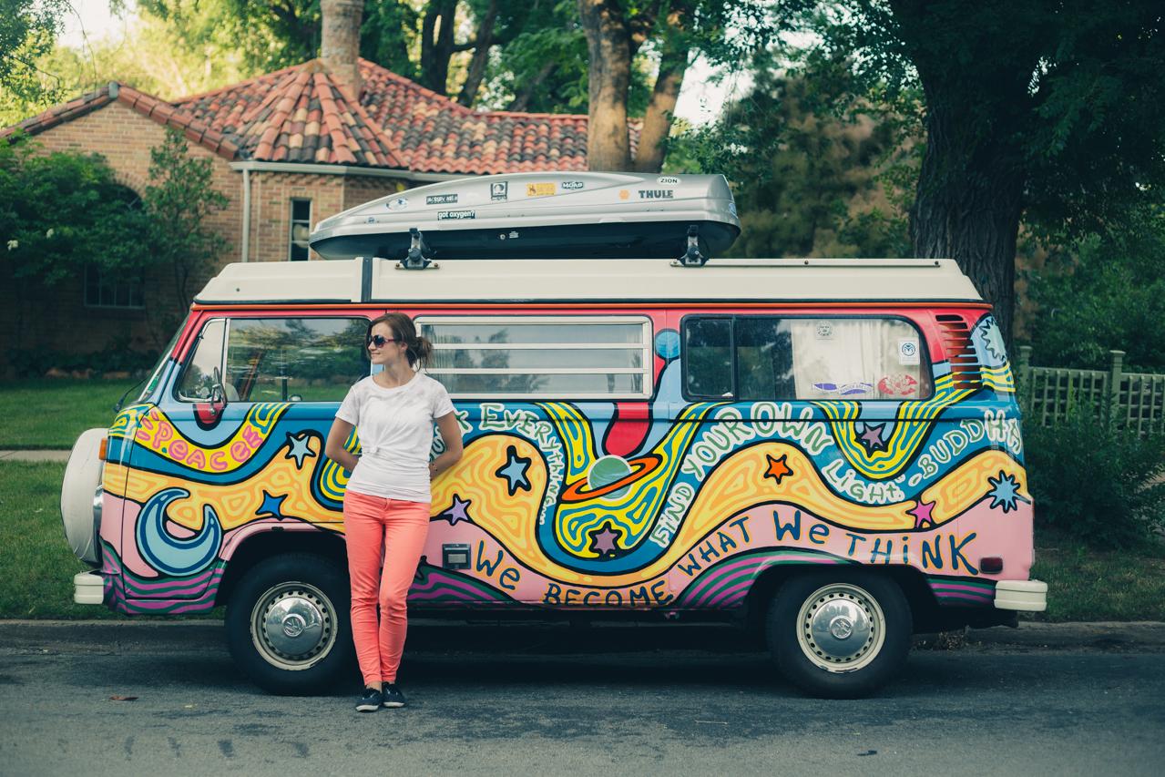 Hippie Boulder Colorado caravan