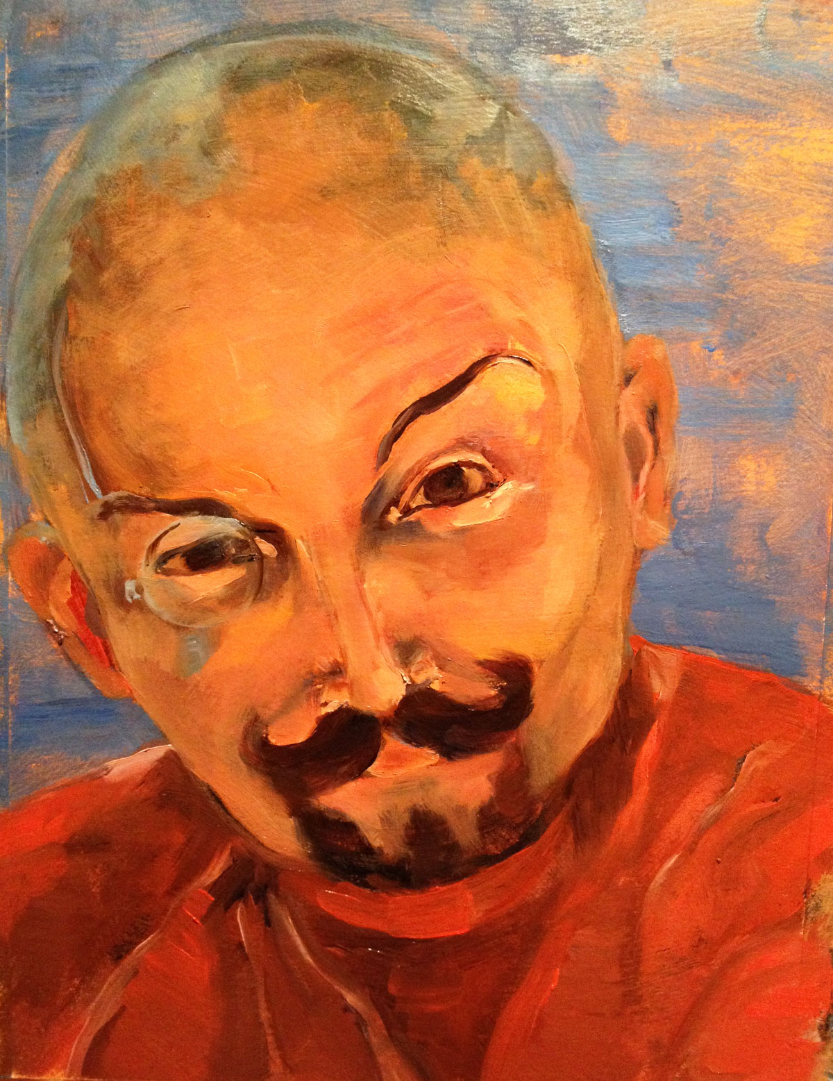 Greg . Oil Portrait with accoutrements