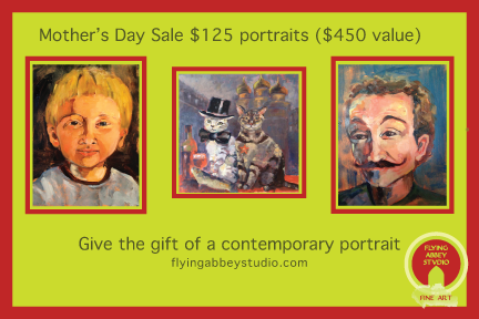 Give your mother the gift of art. Flying Abbey will be running a special from May 1 - May 11, 2014.