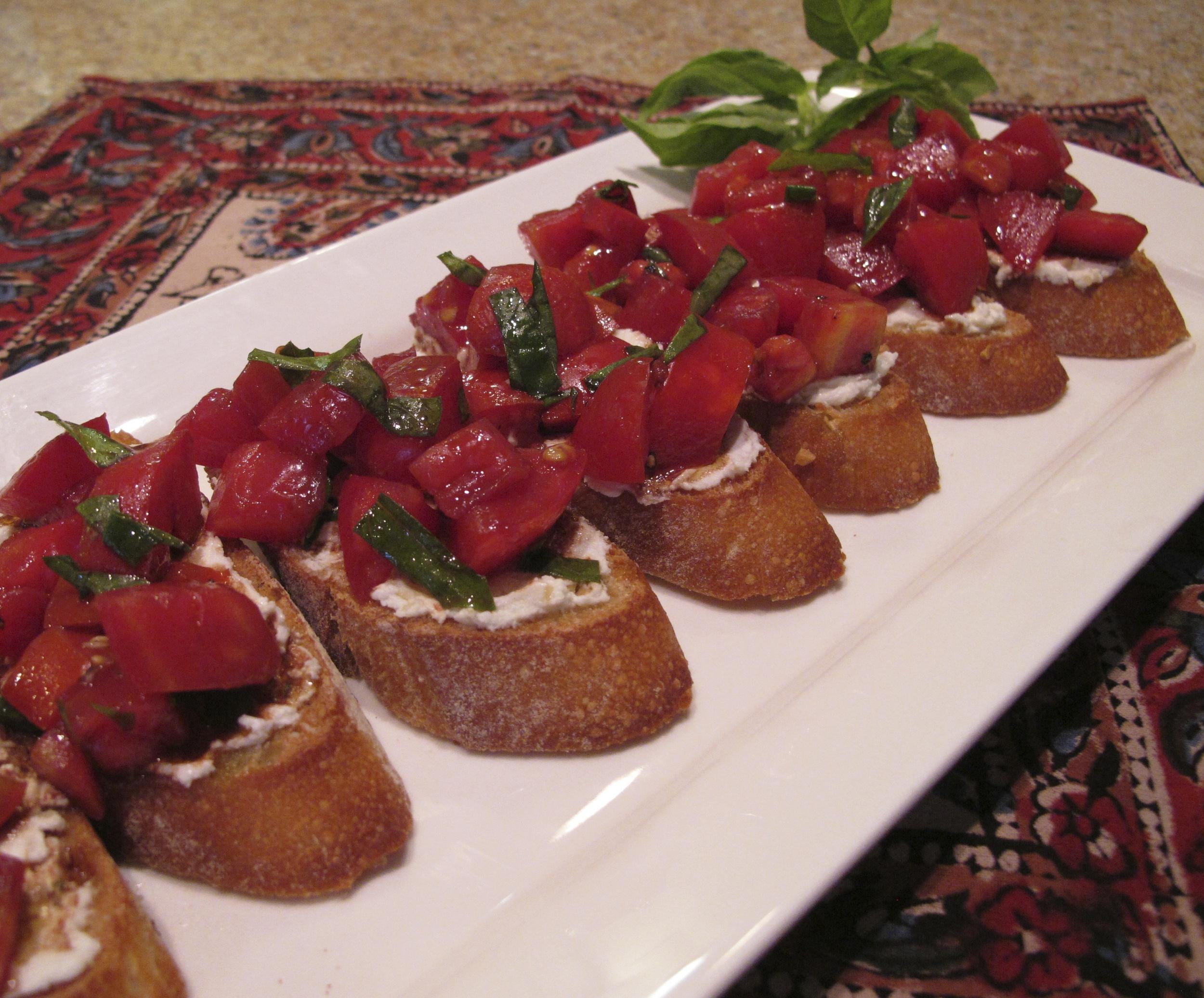 Tomato Bruschetta with Goat Cheese