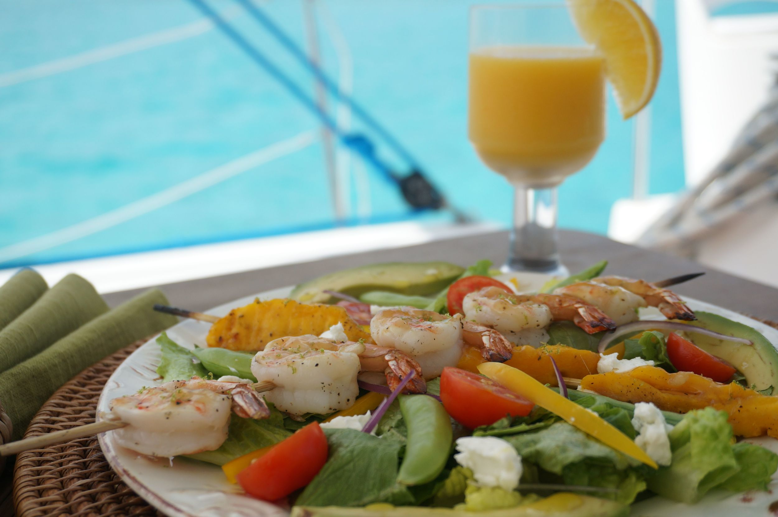 Rum Glazed Shrimp and Mango Salad