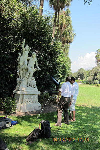 Remote Detection of Biofilms at the Huntington Gardens