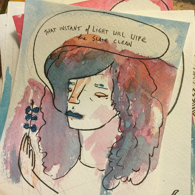 A watercolor dialogue, 2014