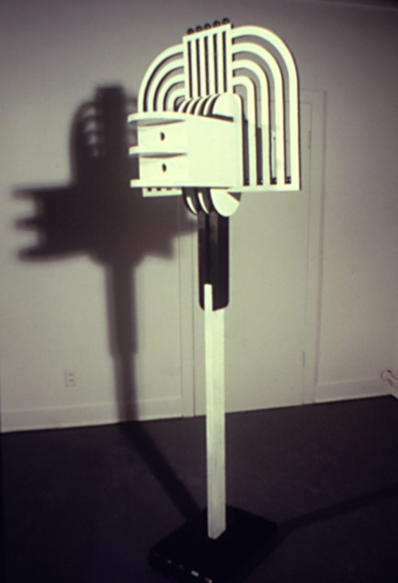 """Art Deco bird house/feeder"""