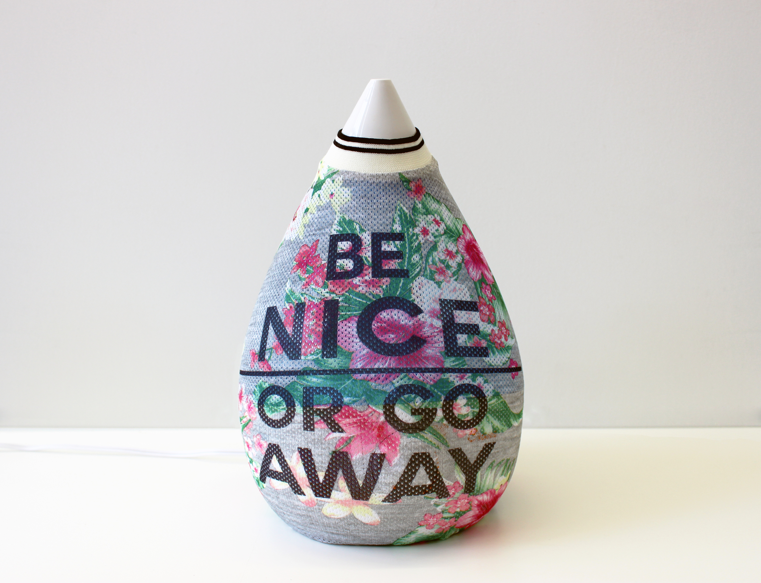 Be Nice or Go Away   2016  humidifier, women's juniors tank top  14 x 9 x 9 inches