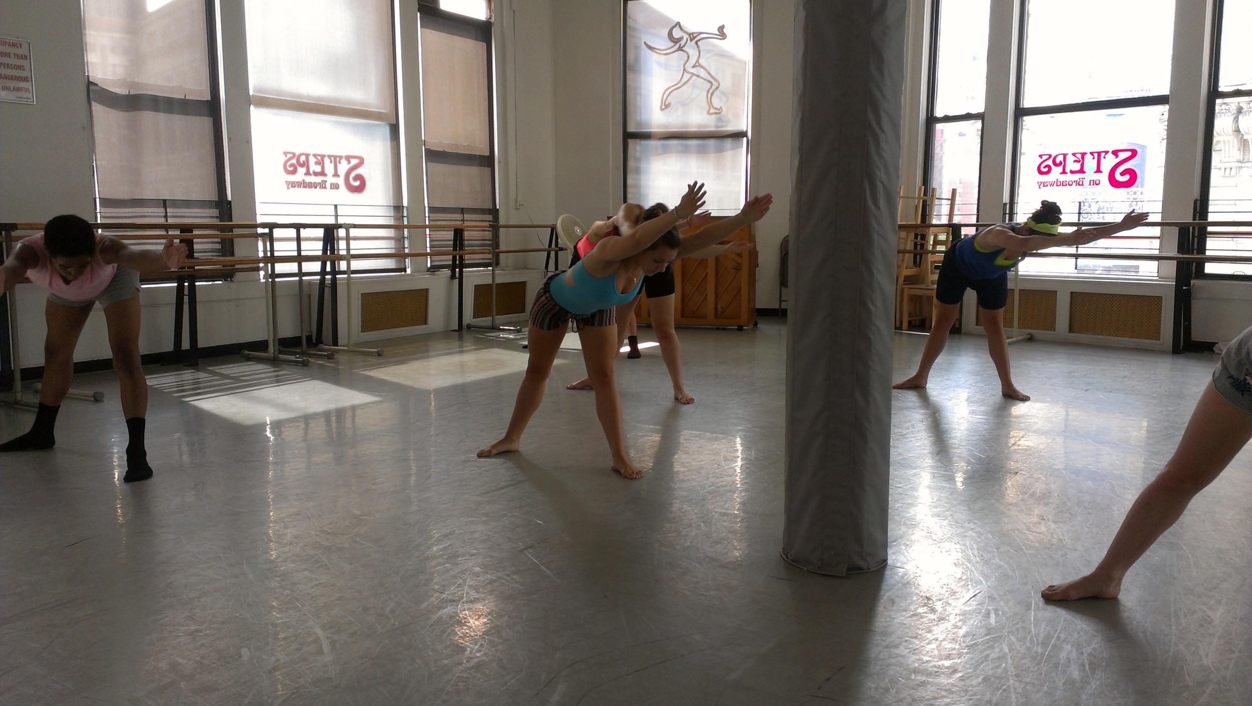 Teaching Pennsylvania Regional Ballet Students: 2013 Breaking Glass Emerging Female Choreographer's Project