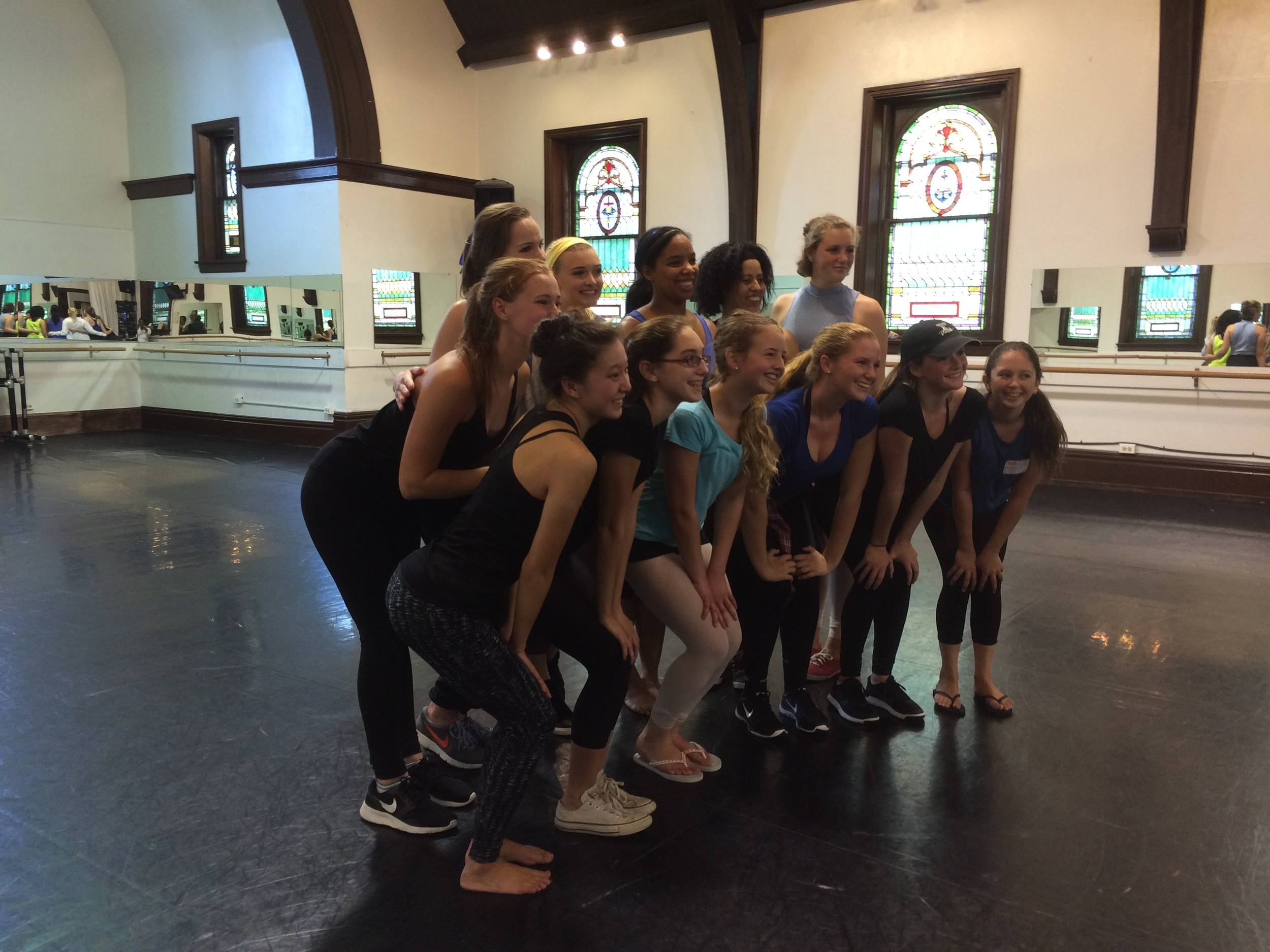 Kristen Murray & I with dancers from Hershey School of Dance. Photo: Hollis Healy