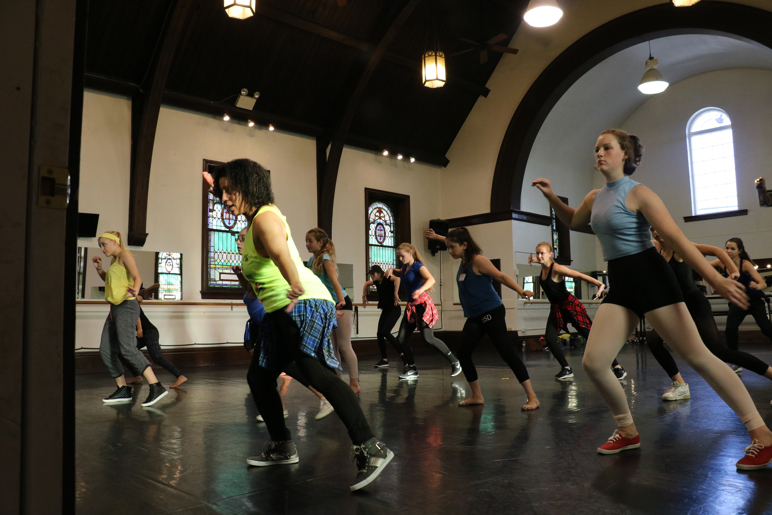 Kristen Murray teaching at 2015 Day of Dance for Cystic Fibrosis at Pennsylvania Regional Ballet