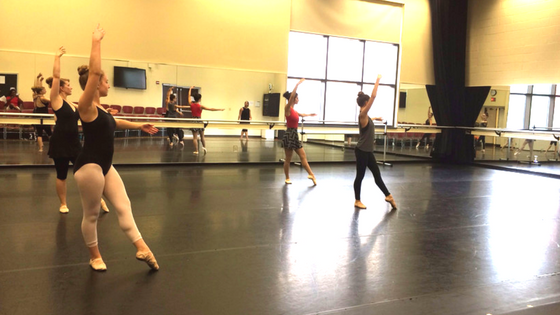 "Dancers participating in ""Open Classes with Danielle Guillermo"""