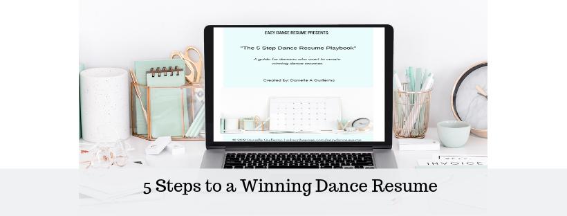 subscribepage.com/danceresumeplaybook