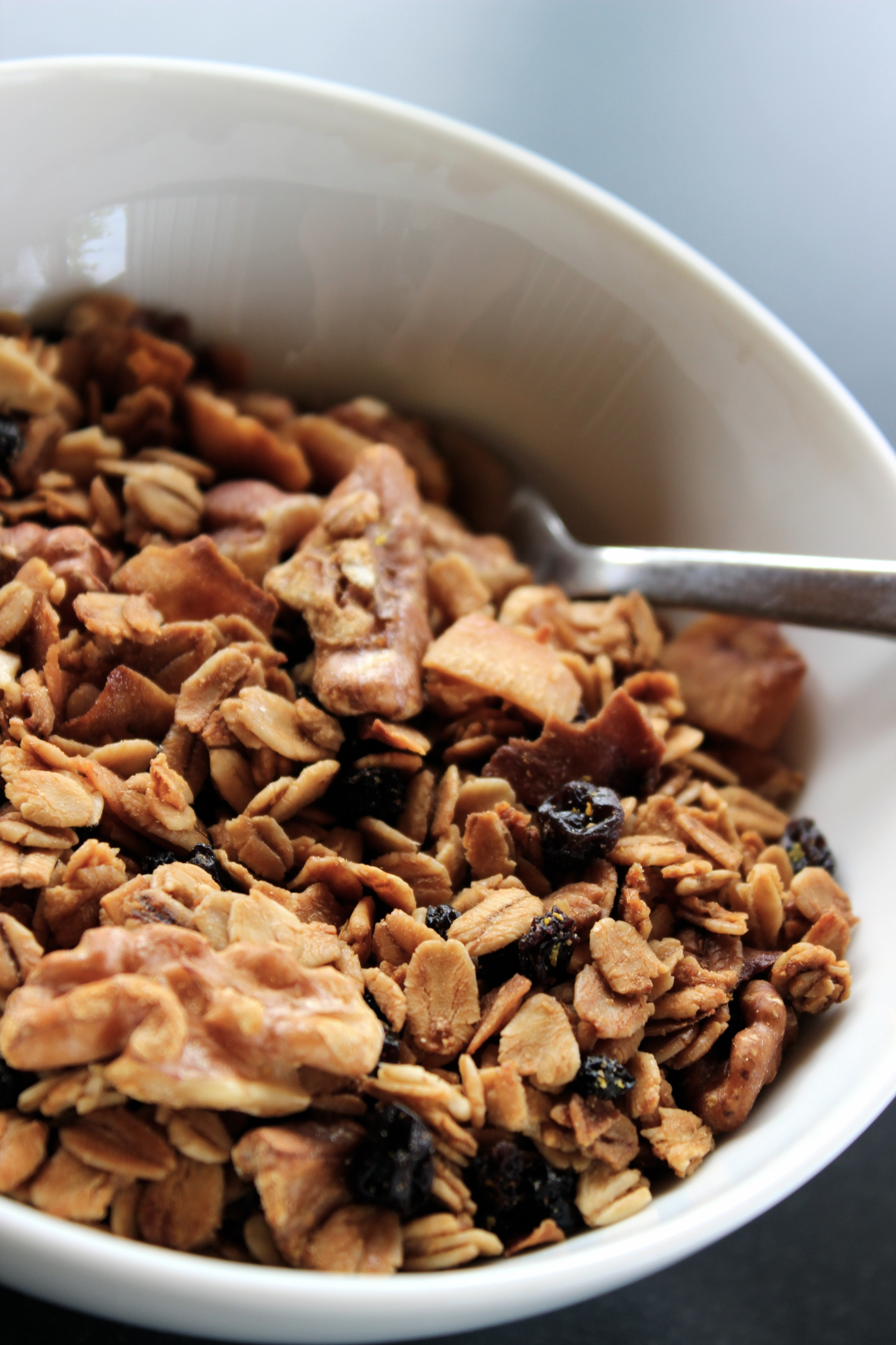 Freshly made granola is hard to resist!