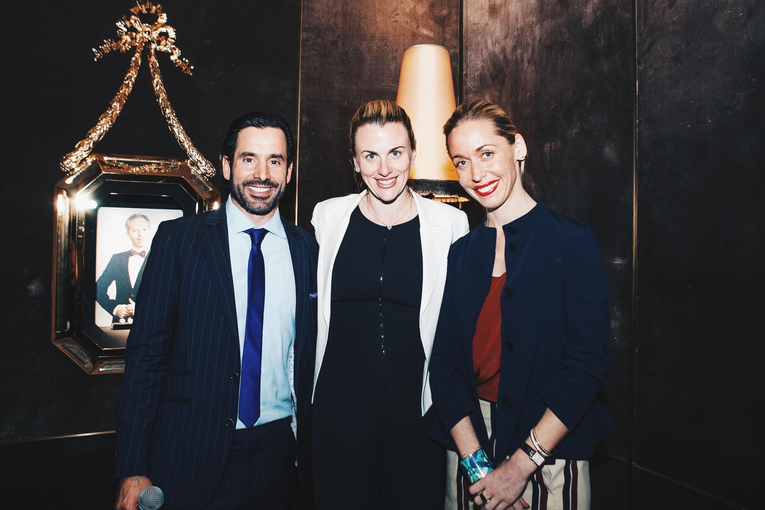 Chris Gialanella with Laura Dowling and Nicole Oge