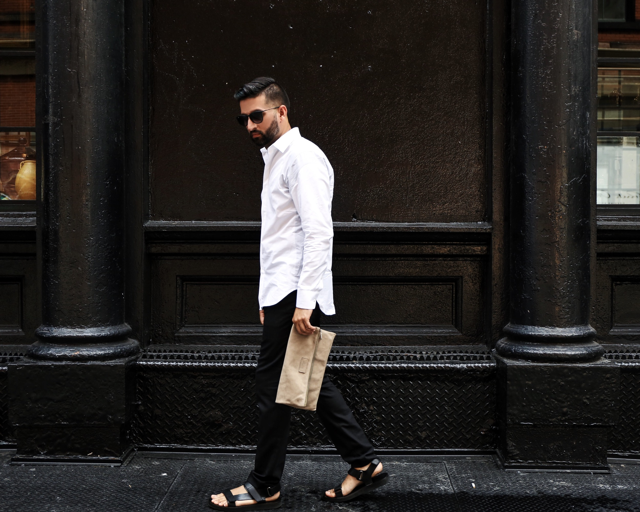 Trousers by Rag and Bone and Shades by RayBan