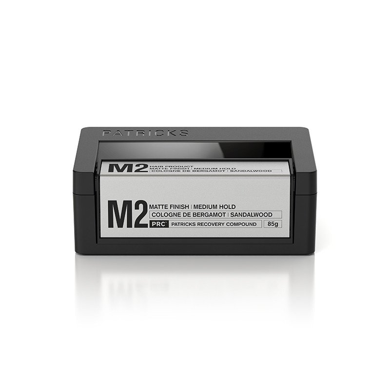 Patricks M2 Matte Finish Medium Hold Pomade - M2 is perfect for almost all hair types. It has amazing sandalwood scent that comes with unique packaging. 75ml ($60, mrporter.com)