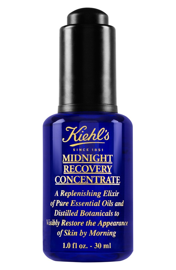 Kiehl's Midnight Recovery Concentrate - This oil is a must on your night skincare routine. It will make you feel refreshed and moisturized in the morning. 30ml ($46, kiehls.com)
