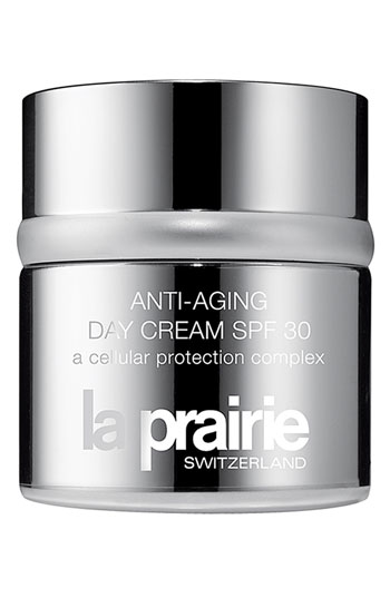 La Prairie Anti-Aging Day Cream   - Aside from its anti-aging benefits, it also has SPF 30 that will prevent damage from UV rays that's suitable for everyday use. ($240, nordstrom.com)