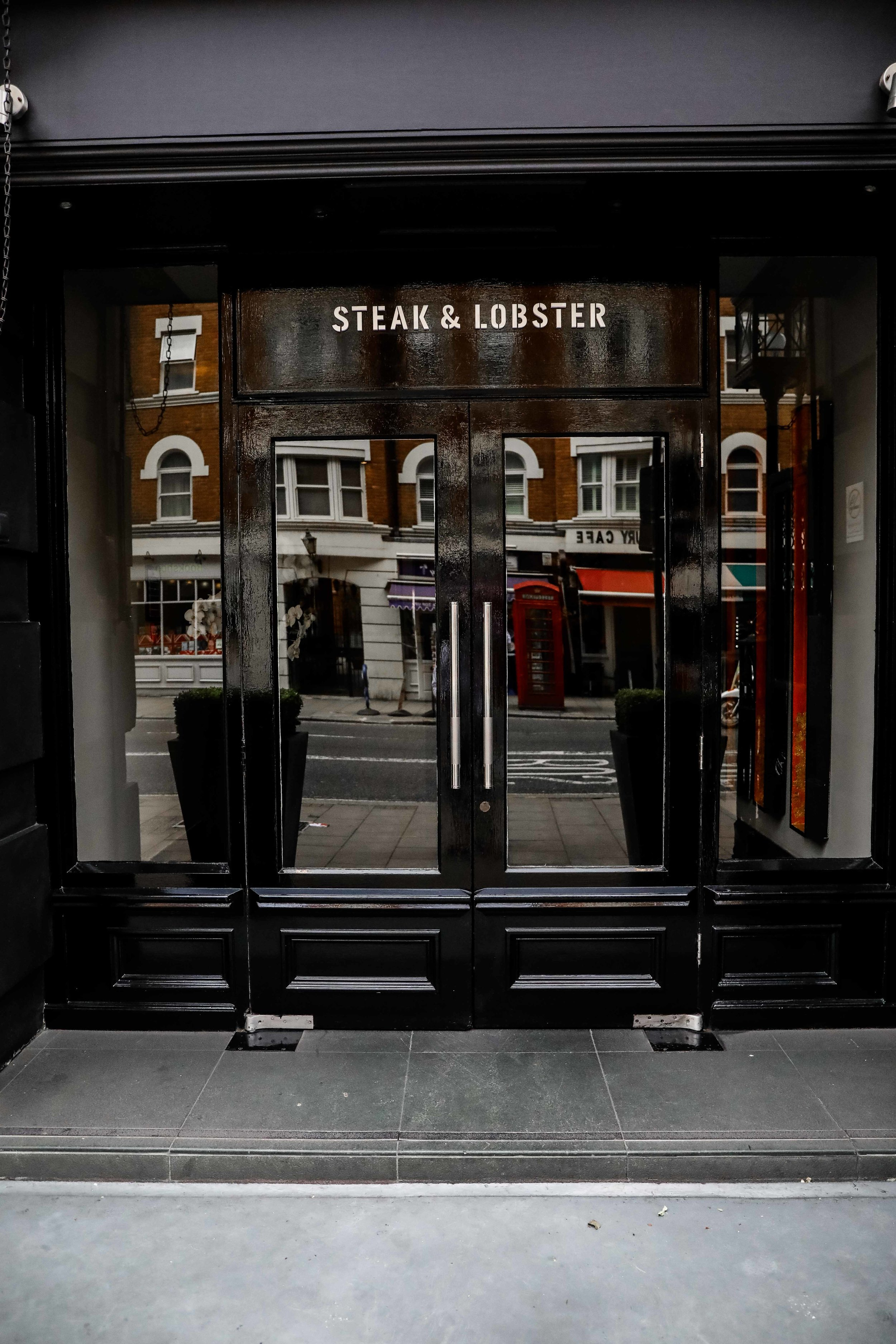 Steak & Lobster restaurant inside the hotel.