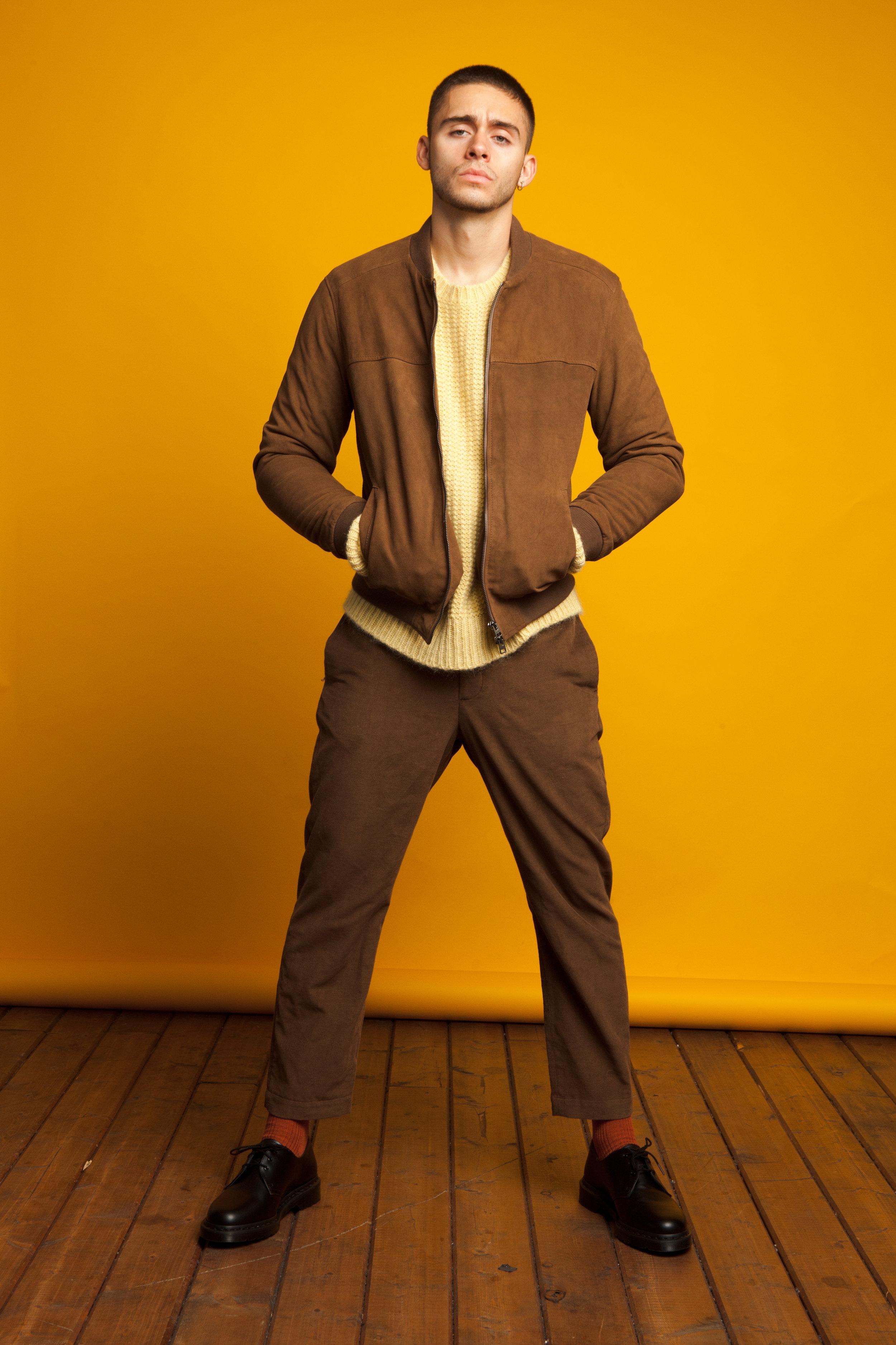 Etro  bomber jacket,  Stella Mcartney  sweater,  Marni  trousers