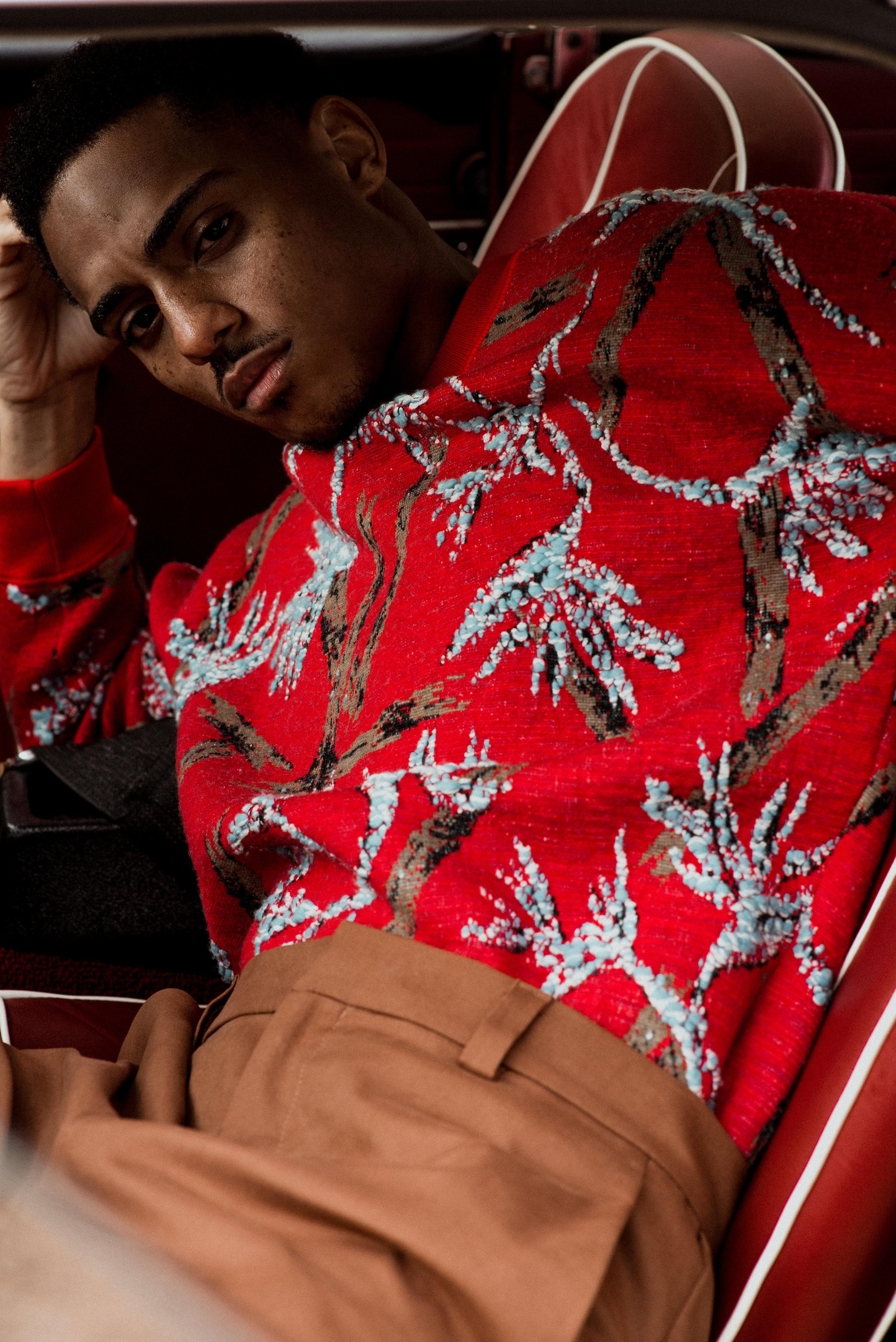 Louis Vuitton sweater, COS pants