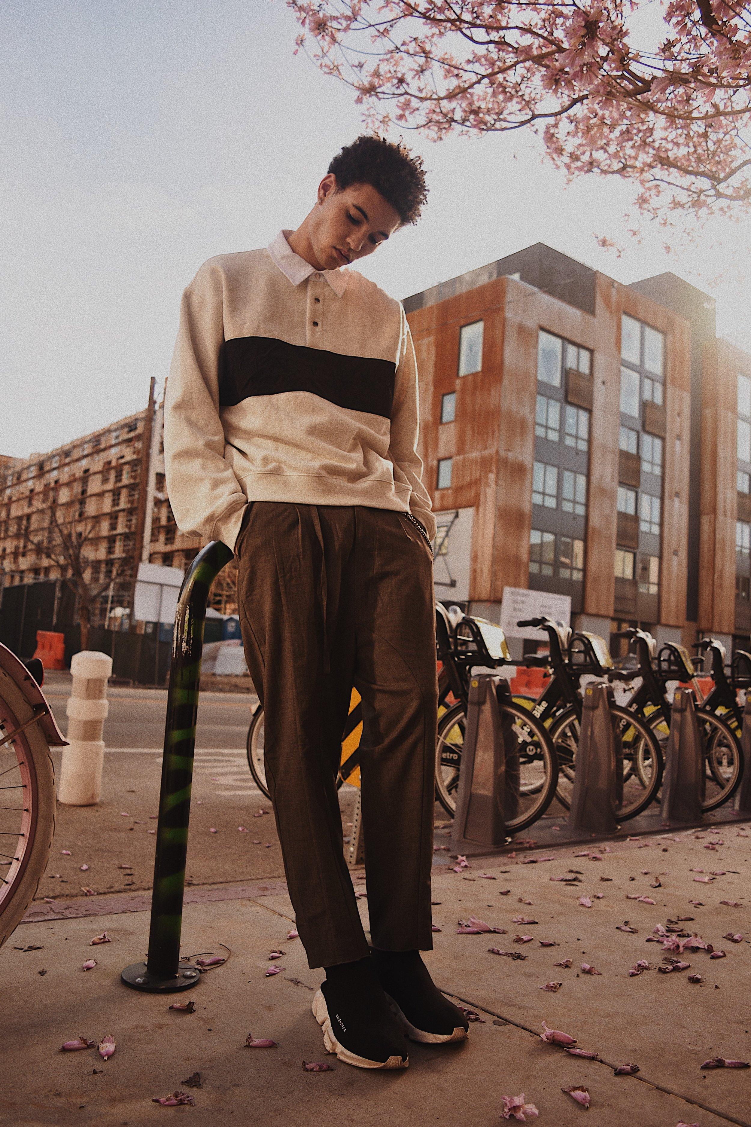 Alexander Wang shirt, Chapter pants, Balenciaga shoes