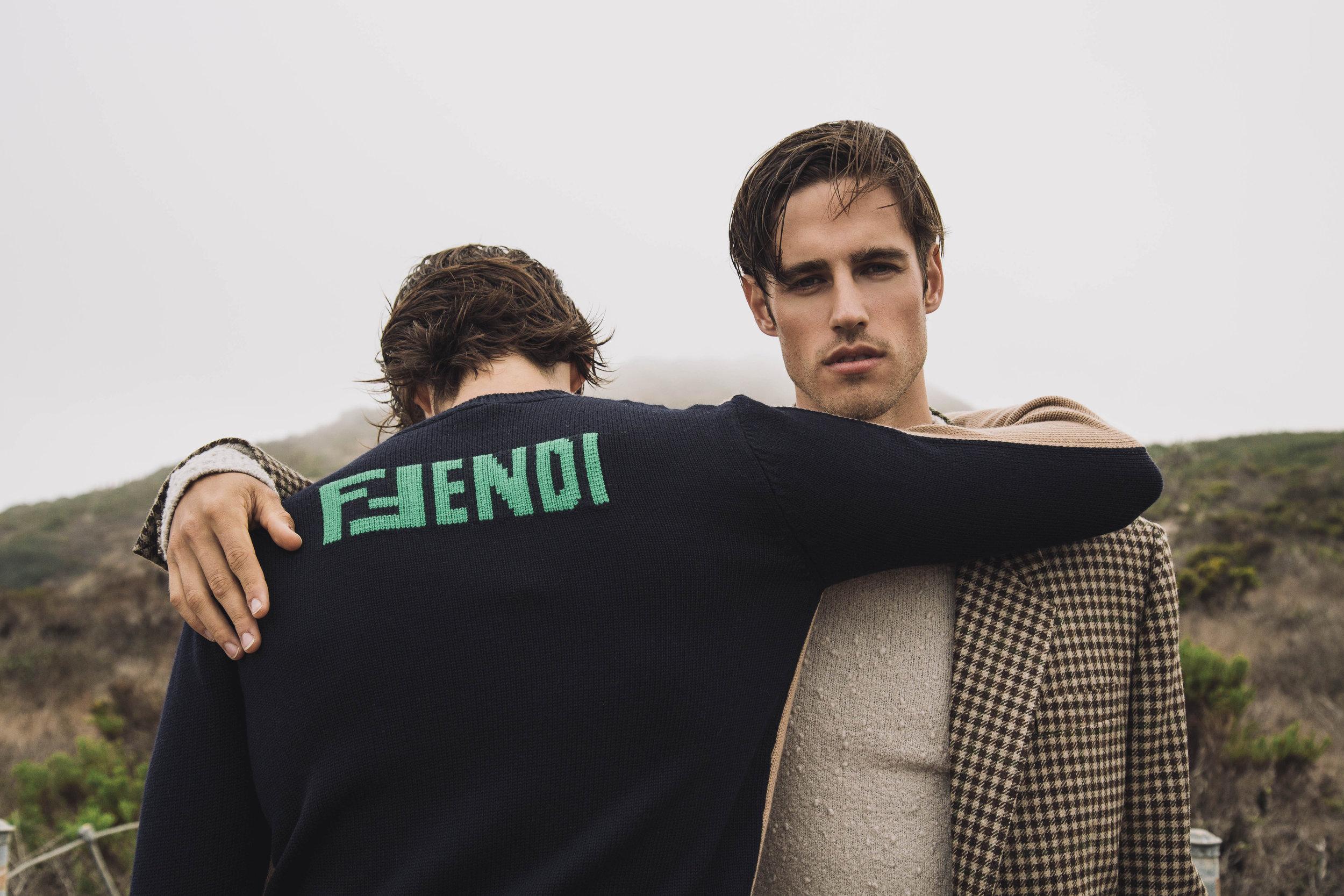 Fendi sweater, Acne Studios blazer, COS sweater