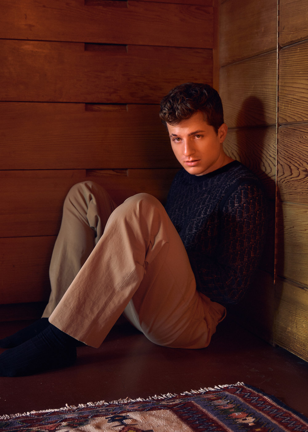 sweater DIOR, pants MAISON MARGIELA
