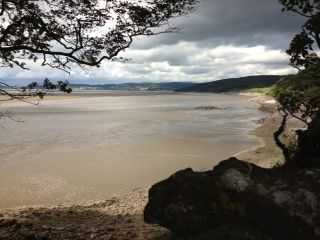 Silverdale shore, 1.5 miles from the campsite.