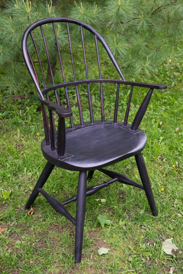 Seat carving chair leg turning continuous arm sack back Aultman furniture.jpg