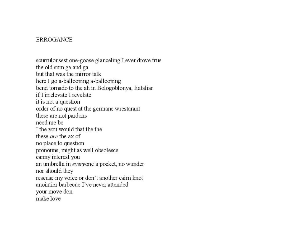 Errogance - Steve Timm
