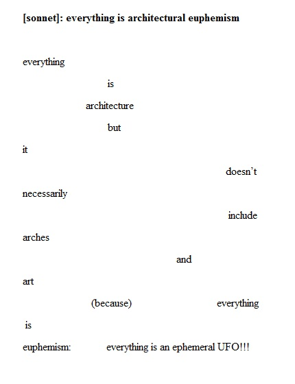 Ali Znaidi - [sonnet]: everything is architectural euphemism