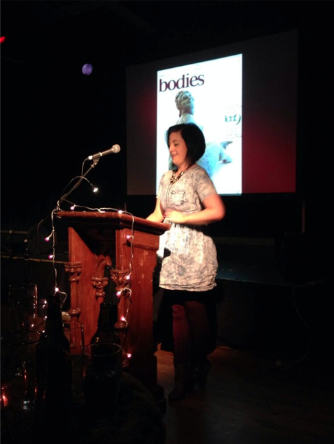 Here's Nuala telling her first story, and also the first ever Tenx9 story to include the subtle word 'ball bag' (#youcantakethegirlouttaderrybut....)