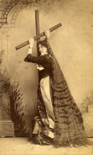 woman with hair