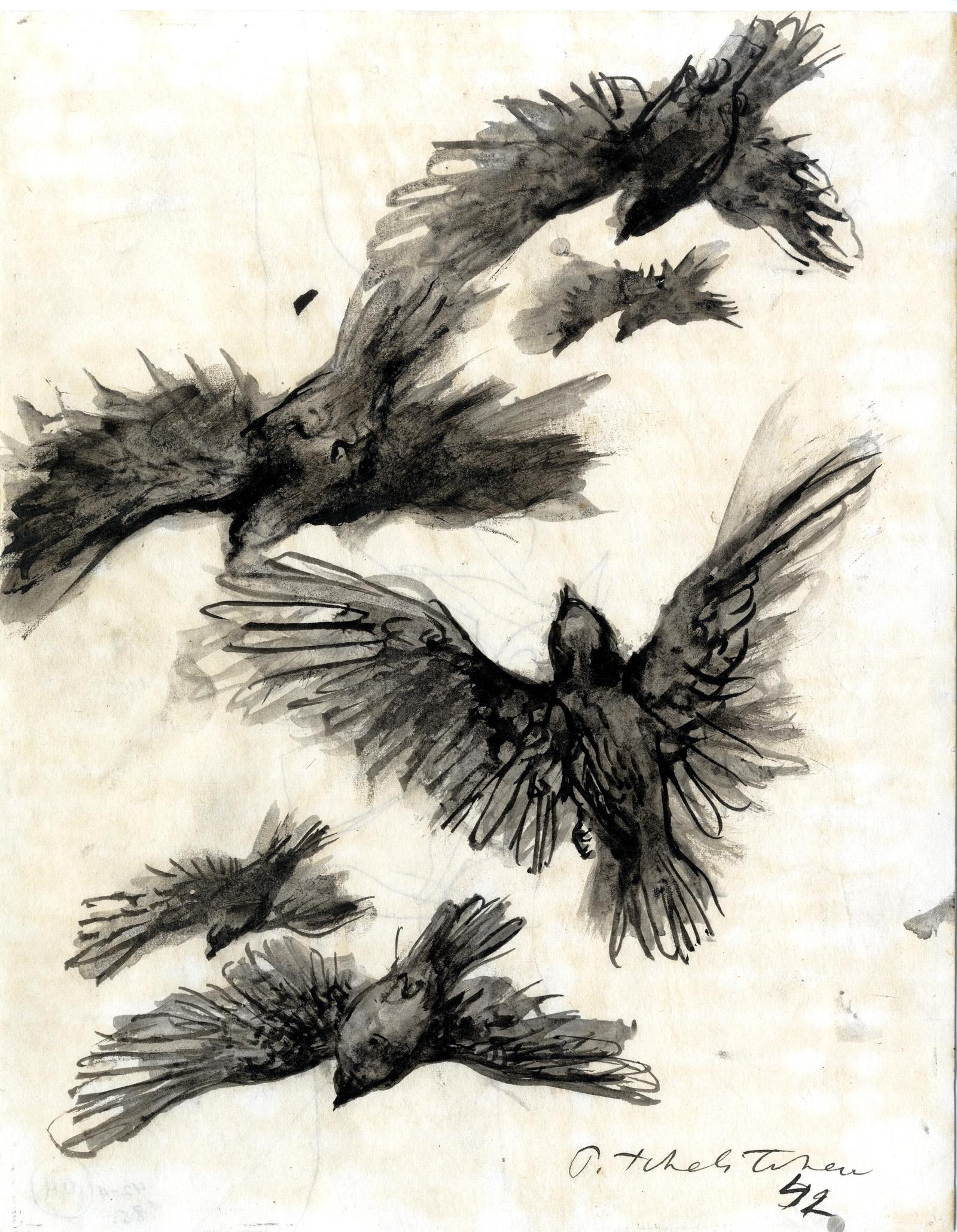 Pavel Tchelitchew: Birds in flight
