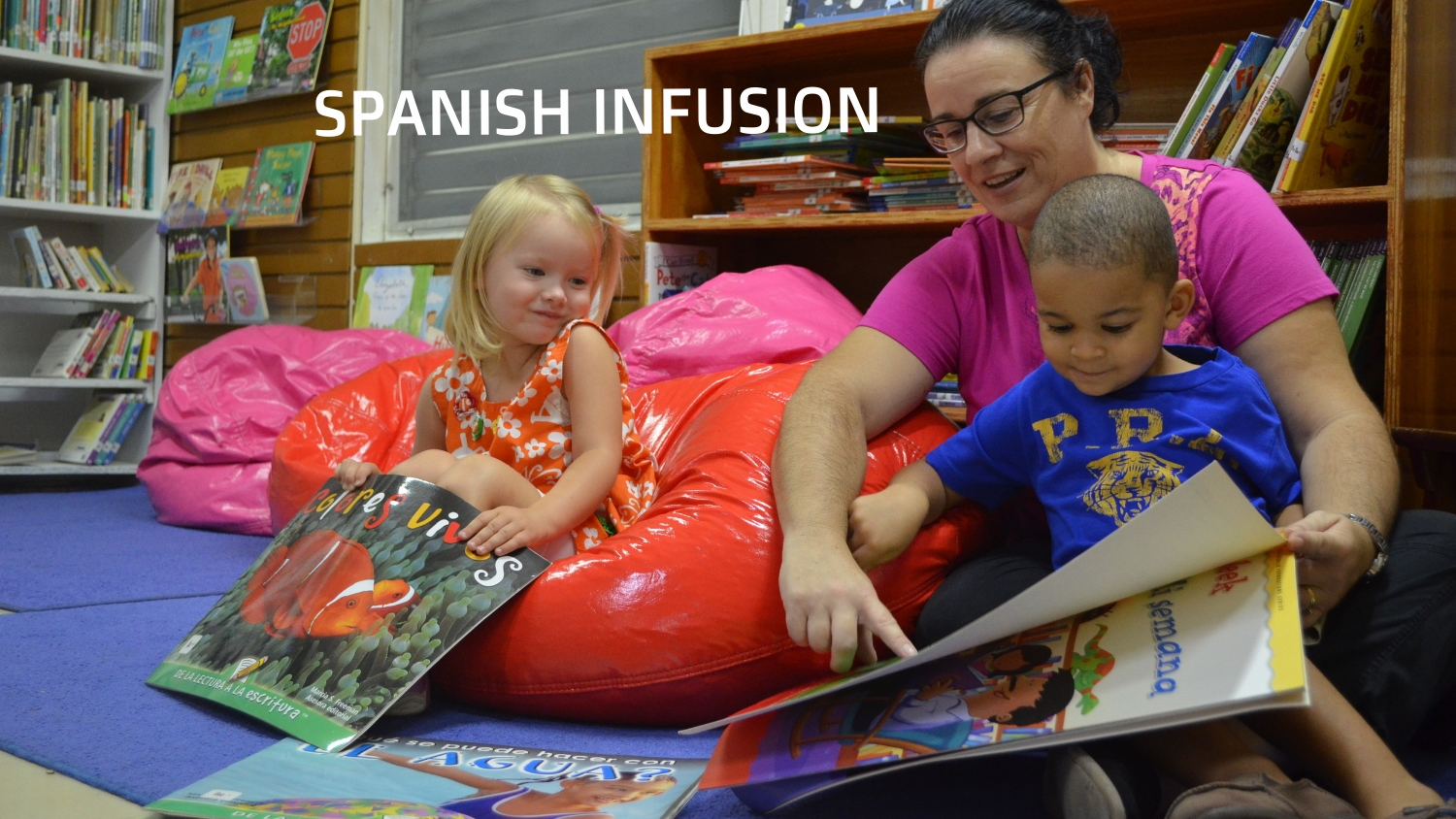 Our Spanish Infusion Program begins with our toddlers.  Students interact throughout the day with Spanish-Speaking adults in their classrooms and around campus.