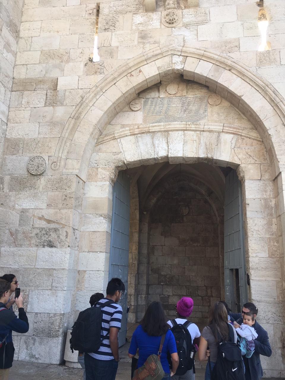 Jaffa gate to the old city of Jerusalem
