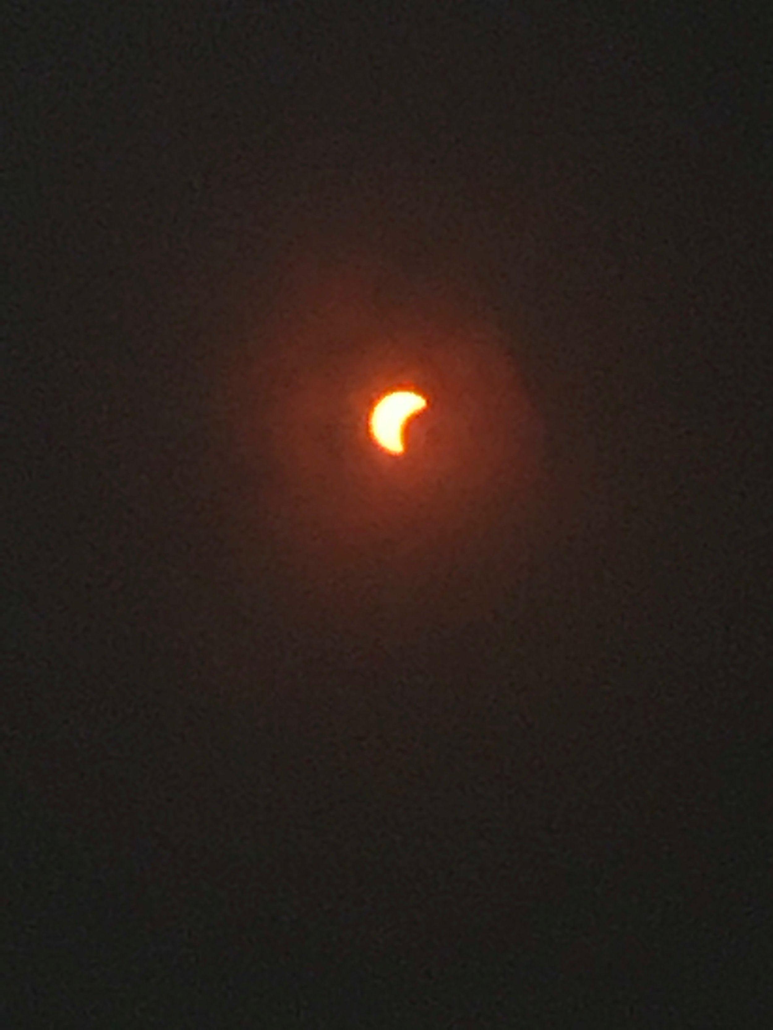 Photo of the eclipse taken at UVI field by PGIA 8th grade student Vidhika .