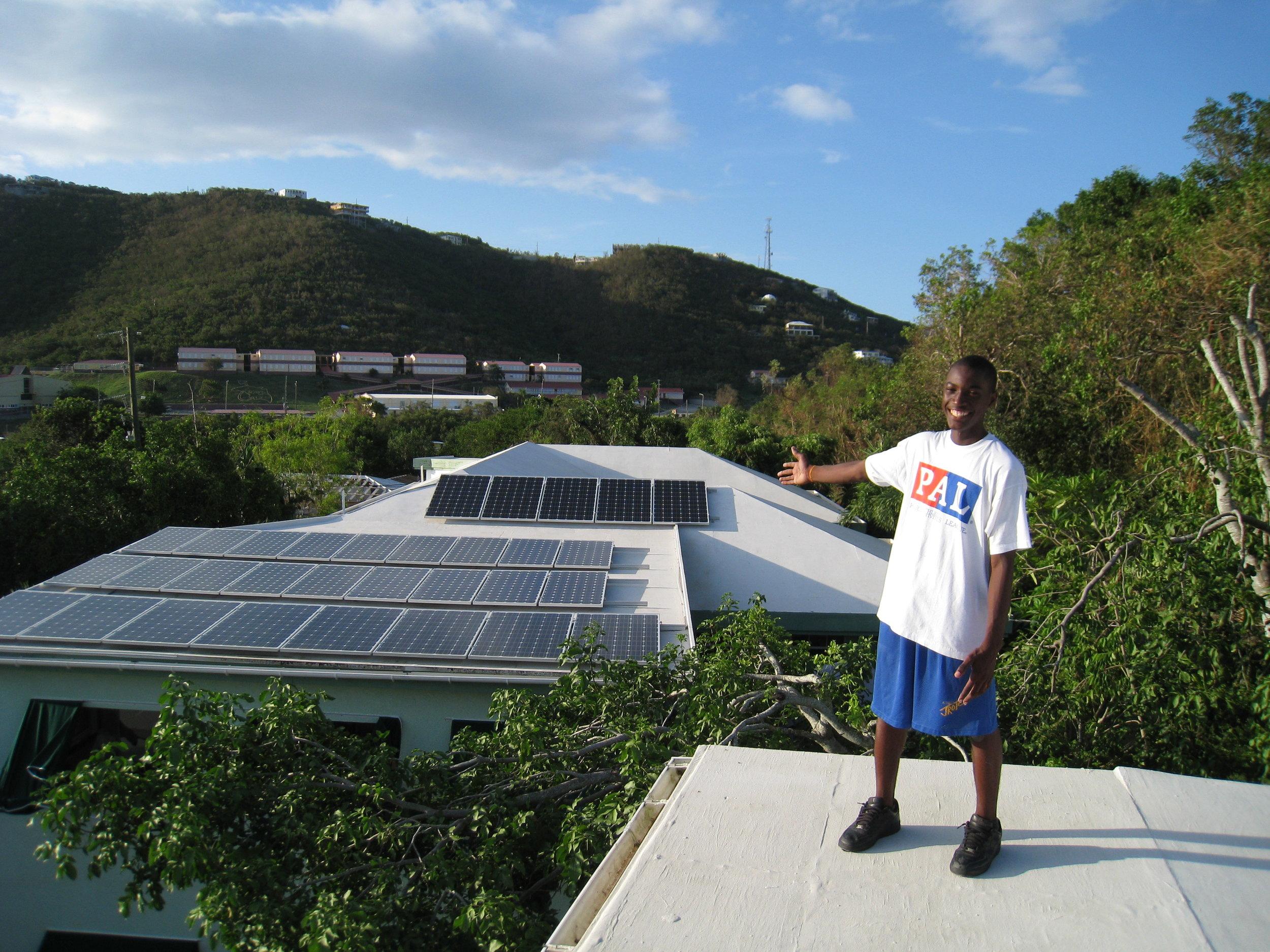 OUr first solar array