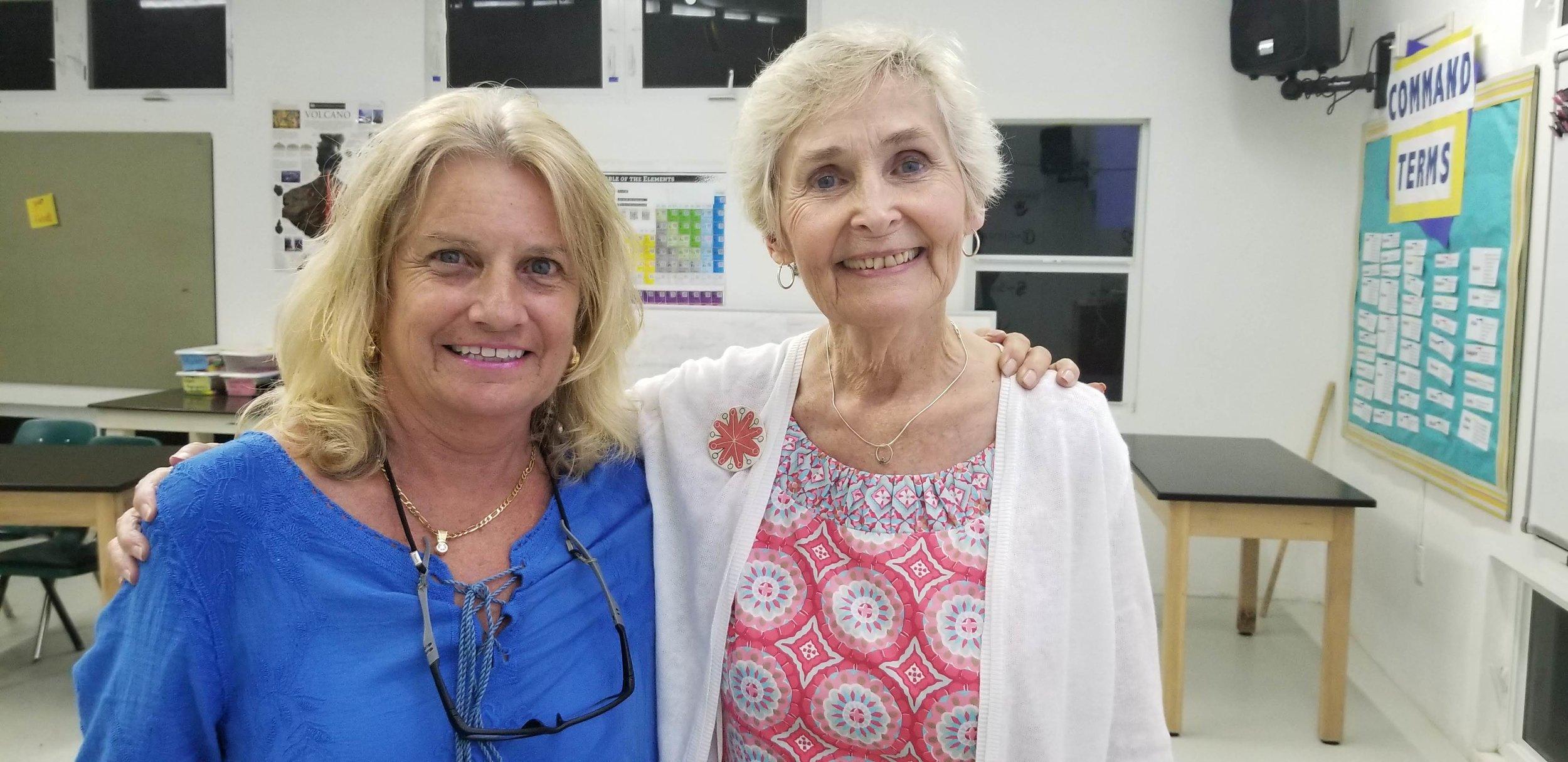Montessori Directress, Norma Bolinger and Patricia Ludick.