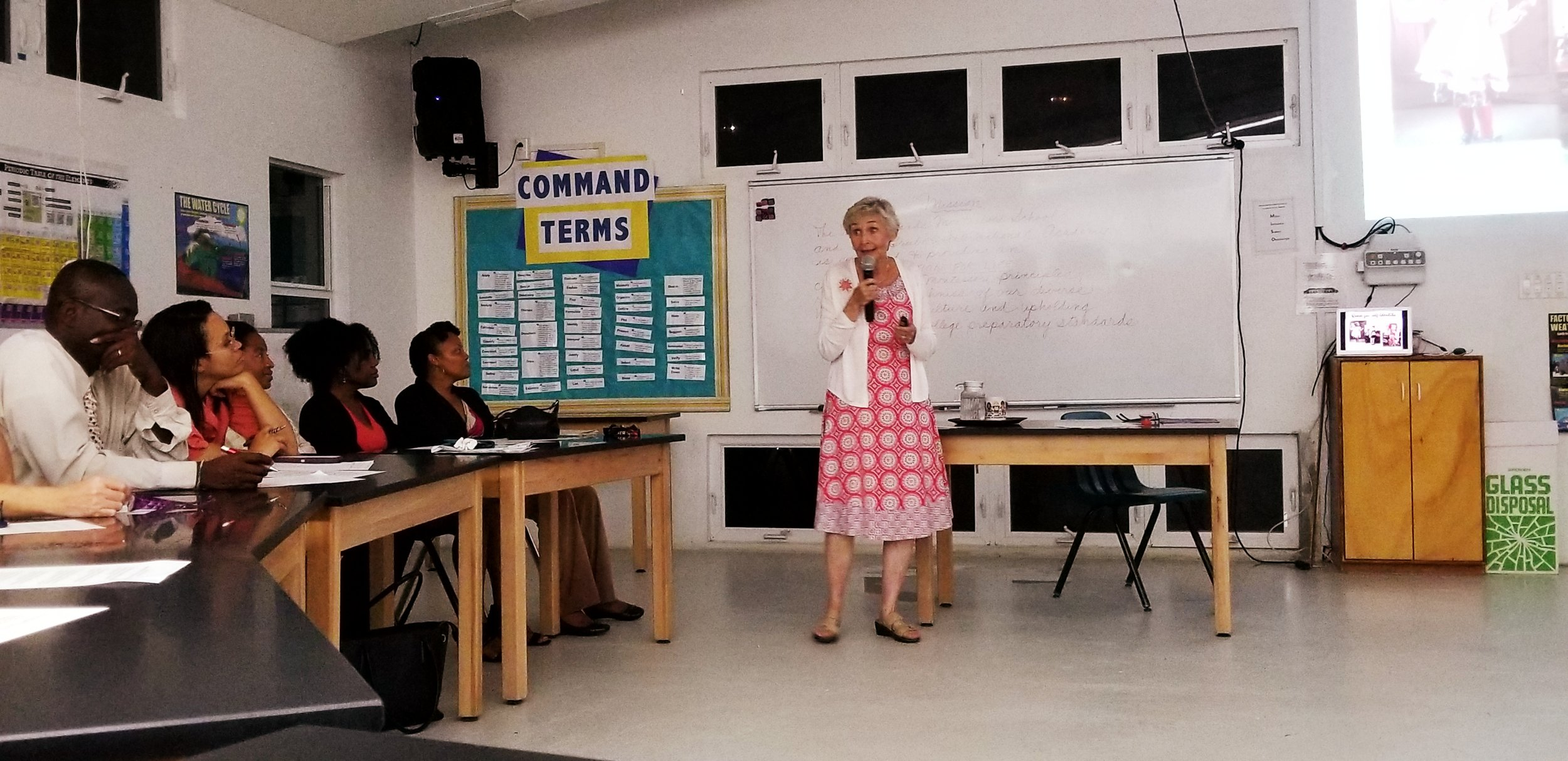 Elementary parent night guest speaker, Patricia Ludick.
