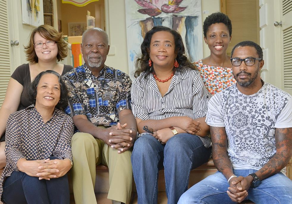 Several members of the original Creative Nassau Team from left to right Pam Burnside, Sonia Farmer, Dr Davidson Hepburn, Patricia Glinton-Meicholas, Royann Dean and John Cox   Photo courtesy of P. Neko Meicholas