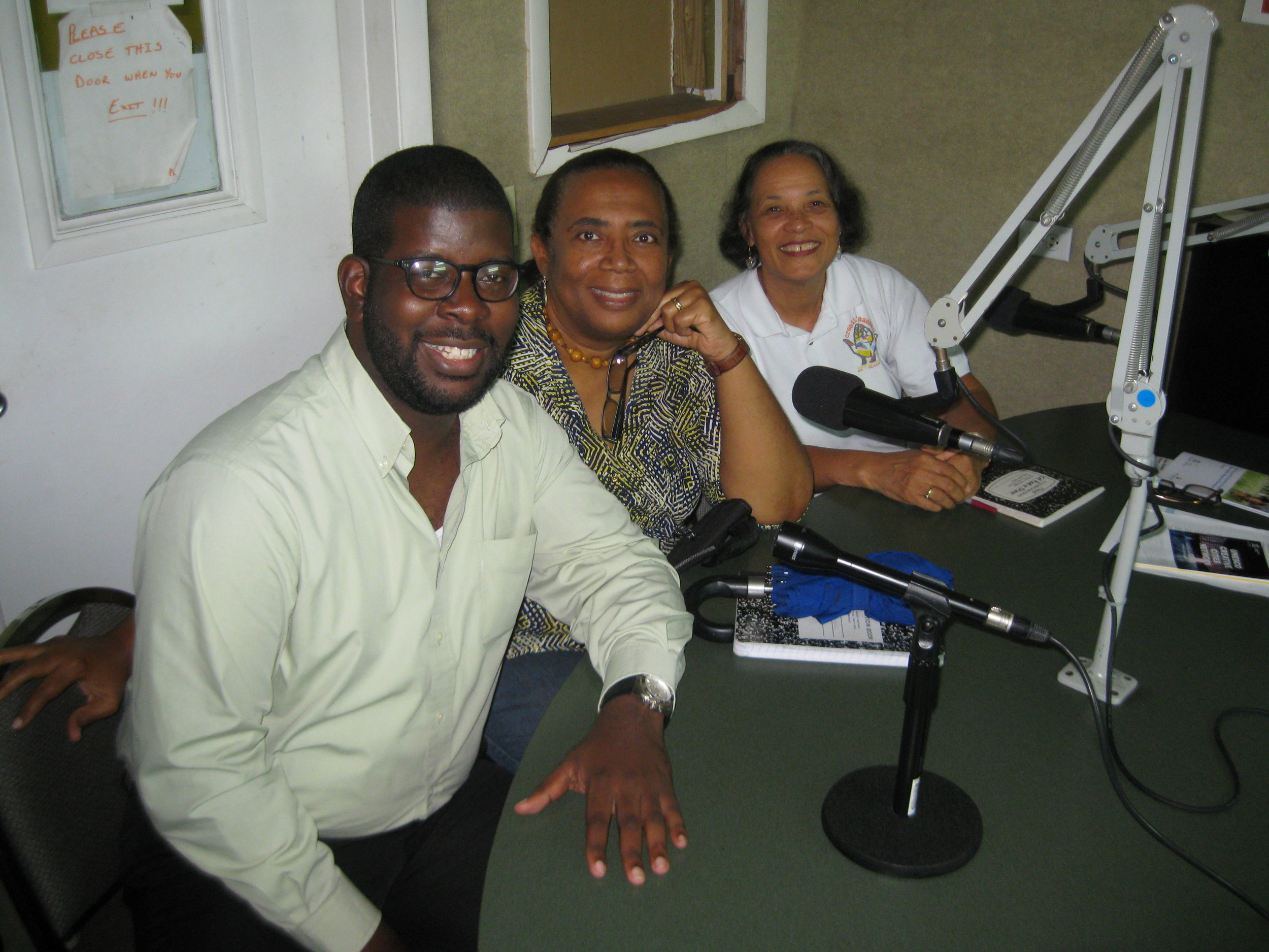 CN Mayor, Gevon Moss of the Downtown Nassau Partnership joins Patti and Pam at the Island FM 102.9 Radio Station to talk about their trip to  Ö stersund, Sweden for the UNESCO Creative Cities Network's Xth Annual Meeting