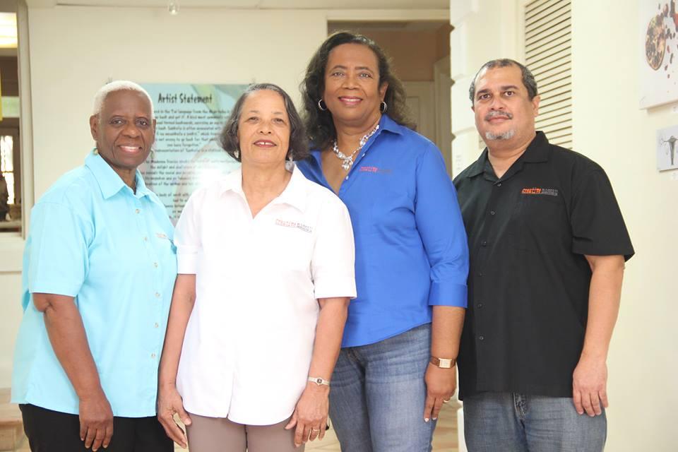 The present Creative Nassau Working Team - left to right -  Rosemary Clarice Hanna ,  Pamela Burnside  Patricia Glinton-Meicholas,  Nicholas Meicholas . Photograph by  Travon Patton