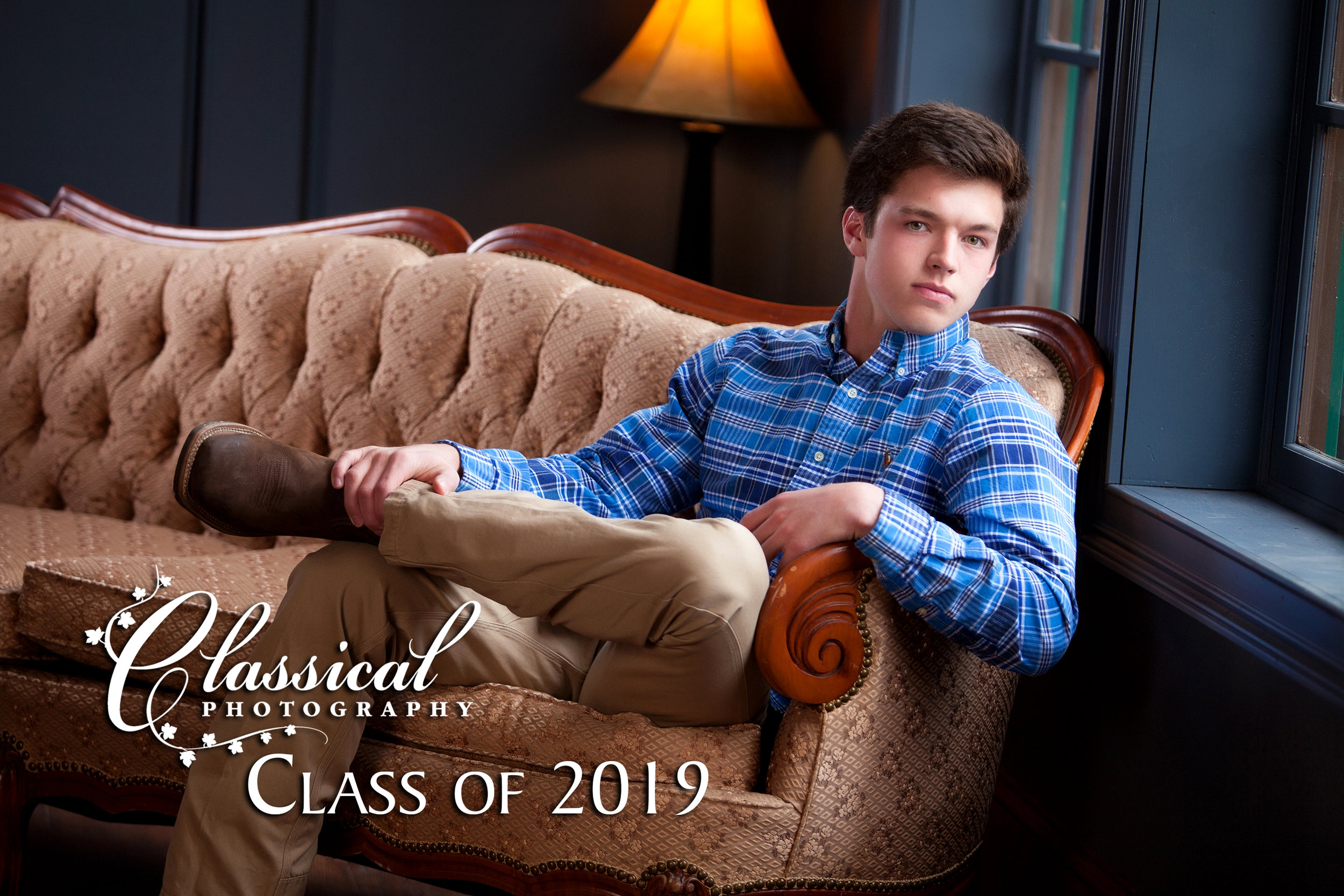 "Preston, Class of 2019, is another one of our ""Classical babies"" turned senior portrait client."