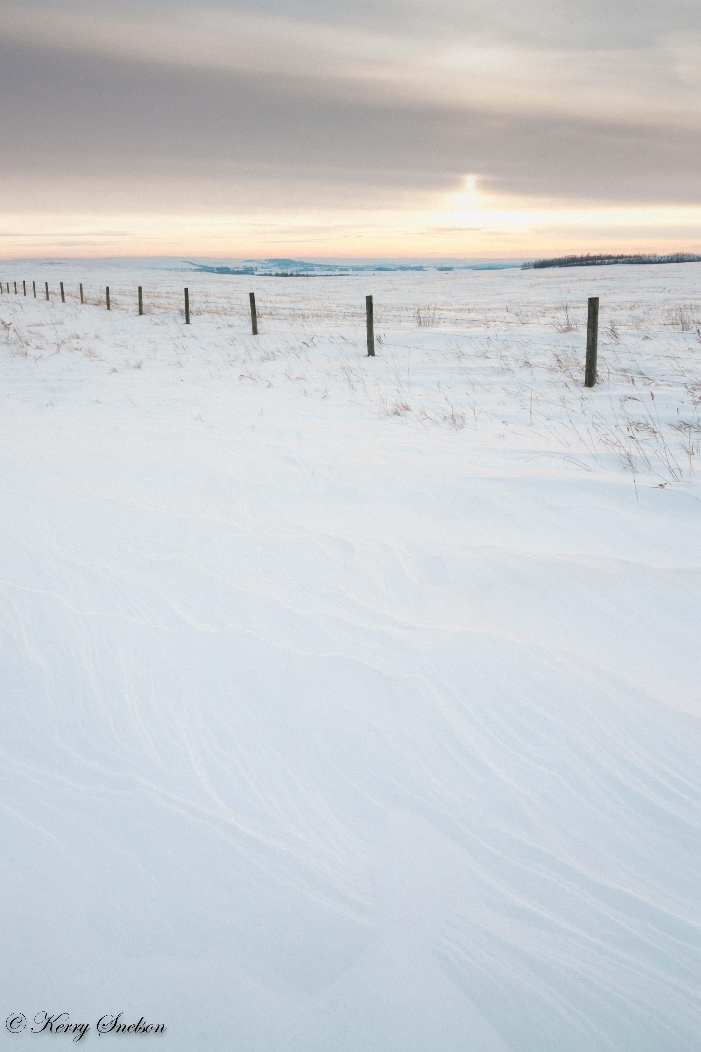 Textured Snow Landscape